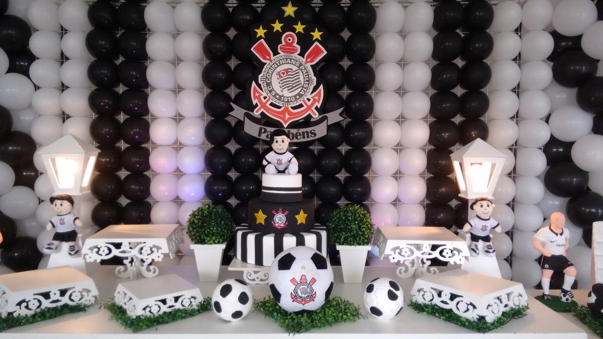 Festas e Cia Eventos Decoraç u00e3o de Mesa Tema Corinthians